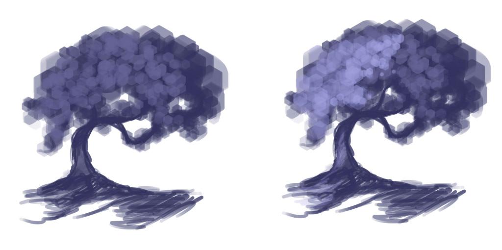 как нарисовать дерево в фотошопе шаг 2
