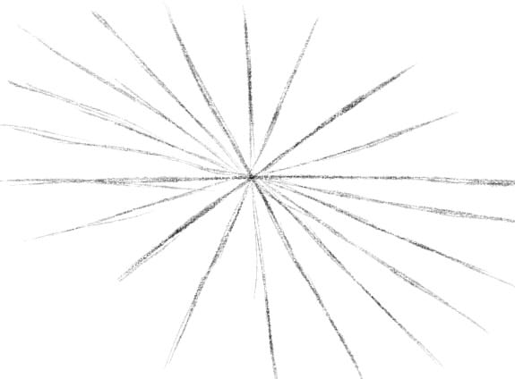 как нарисовать паутину шаг 2