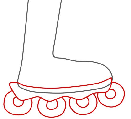 как нарисовать ролики шаг 2