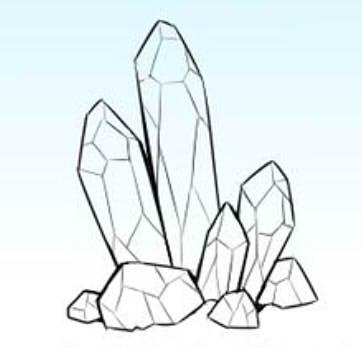 как нарисовать кристалл шаг 3