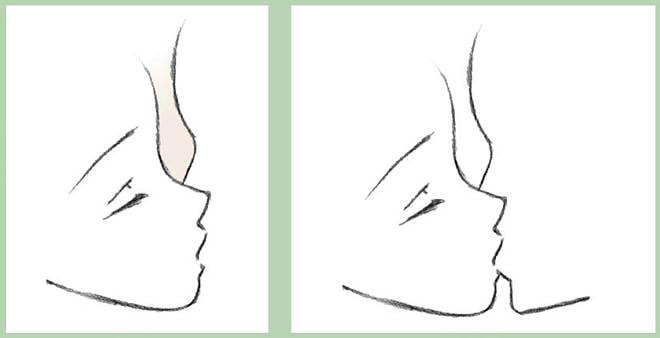как нарисовать поцелуй шаг 3