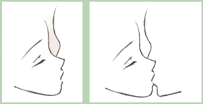 Поцелуй рисунок схема