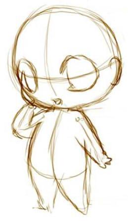 как нарисовать чиби шаг 3