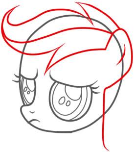 рисуем пони скуталу поэтапно