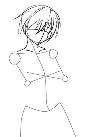 как нарисовать девушку аниме с кошачьими ушками шаг 3