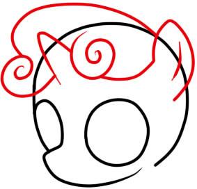 как нарисовать пони крошку бель шаг 3