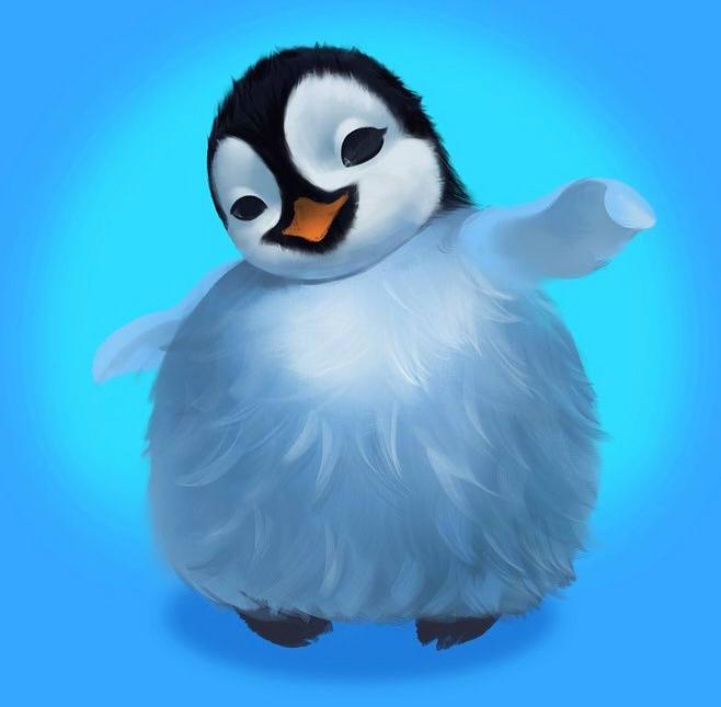 как нарисовать пингвина шаг 3