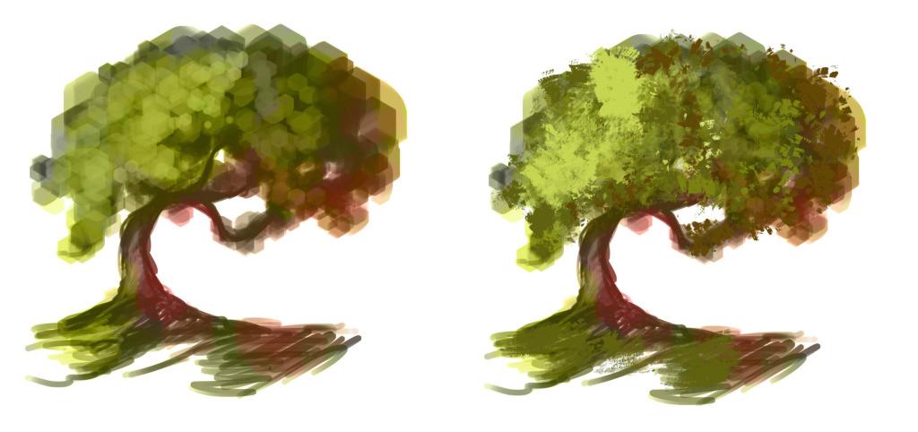 как нарисовать дерево в фотошопе шаг 3
