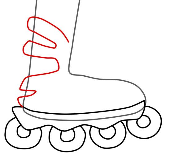 как нарисовать ролики шаг 3