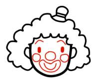 как нарисовать клоуна шаг 3