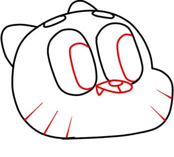 как нарисовать гамбола шаг 4