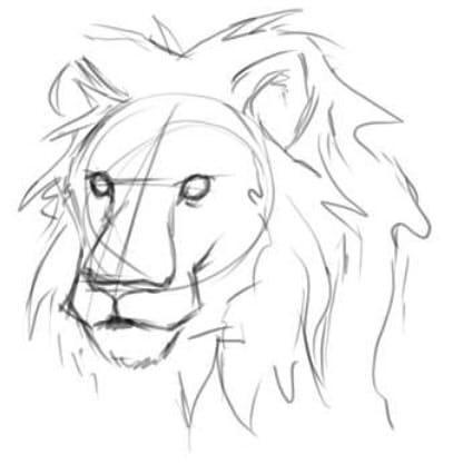 как нарисовать голову льва шаг 4