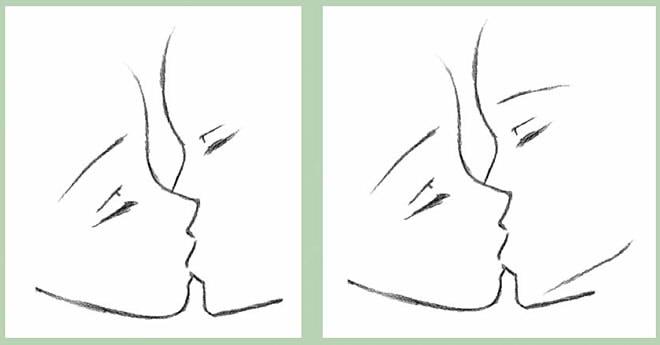 как нарисовать поцелуй шаг 4