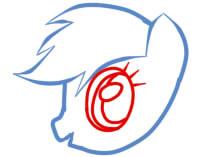 как рисовать пони радугу шаг 4