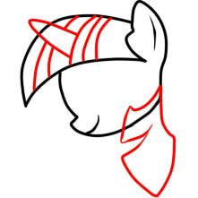 как рисовать пони твайлайт шаг 4