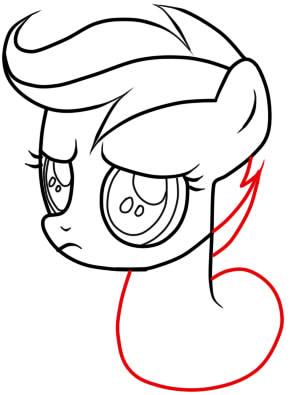 рисуем пони скуталу