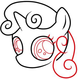 как нарисовать пони крошку бель шаг 4