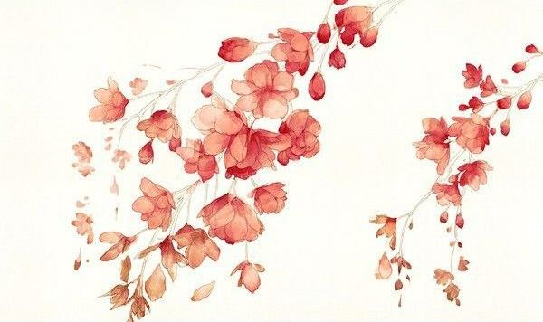 как нарисовать цветы акварелью шаг 4