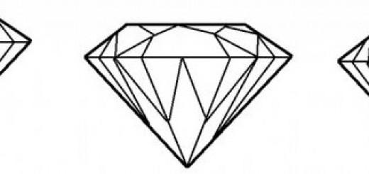 как нарисовать алмаз шаг 4