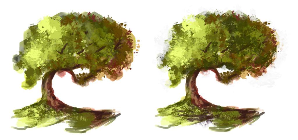 как нарисовать дерево в фотошопе шаг 4