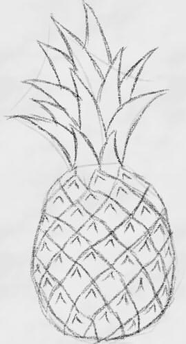как нарисовать ананас шаг 4