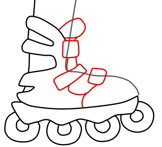 как нарисовать ролики шаг 4