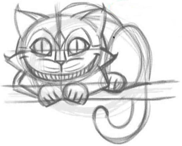 Как нарисовать чеширского кота шаг 5