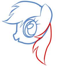 как рисовать пони радугу шаг 5