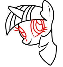 как рисовать пони твайлайт шаг 5