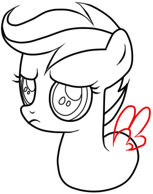 как нарисовать пони скуталу поэтапно карандашом