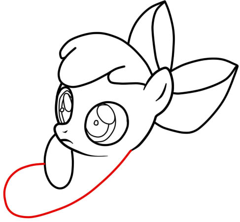 как нарисовать эпл блум карандашом поэтапно