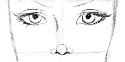 как нарисовать подругу шаг 5