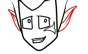 как нарисовать грови из вакфу шаг 5