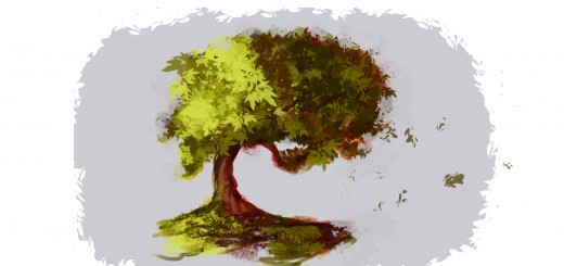 как нарисовать дерево в фотошопе шаг 5