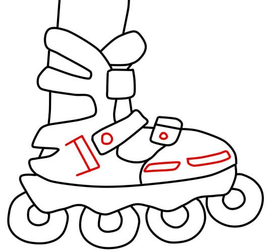 как нарисовать ролики шаг 5