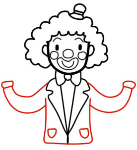 как нарисовать клоуна шаг 5