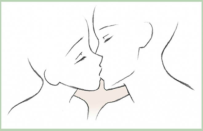 Аниме картинки целующихся