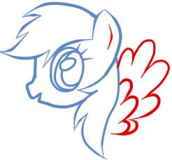 как рисовать пони радугу шаг 6