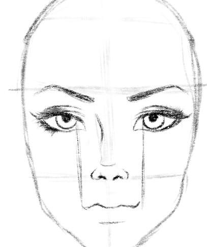 как нарисовать подругу шаг 6
