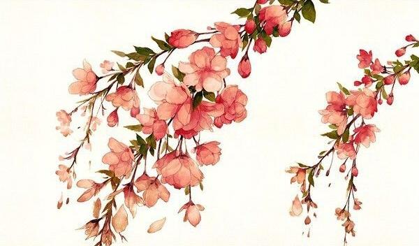 Поэтапно цветок акварелью