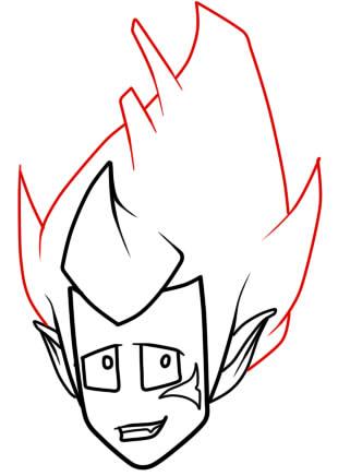как нарисовать грови из вакфу шаг 6