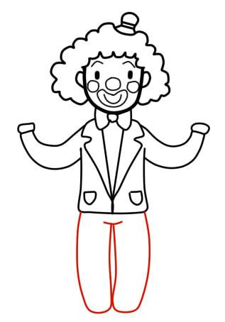 как нарисовать клоуна шаг 6
