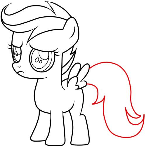 как нарисовать пони скуталу карандашом