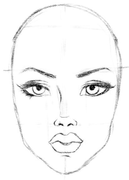 как нарисовать подругу шаг 7