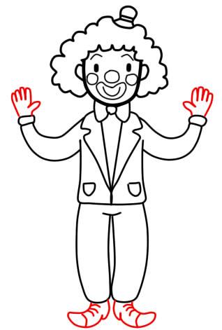 как нарисовать клоуна шаг 7