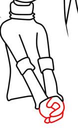 как нарисовать розу барбоскину поэтапно