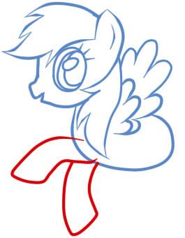 как рисовать пони радугу шаг 8