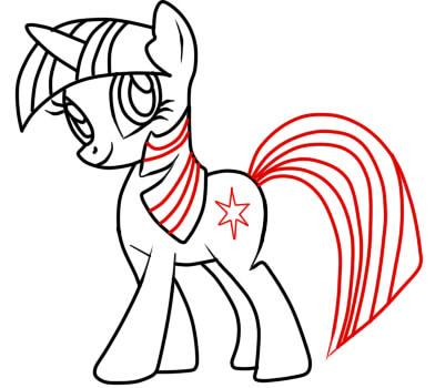 как рисовать пони твайлайт шаг 8