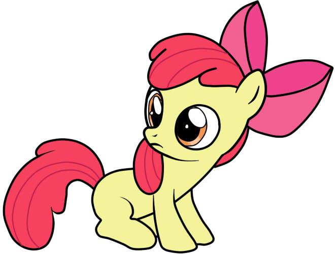как нарисовать пони эпл блум