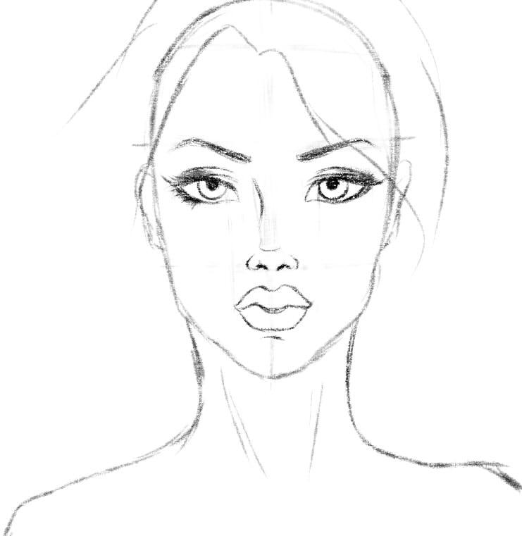 как нарисовать подругу шаг 8